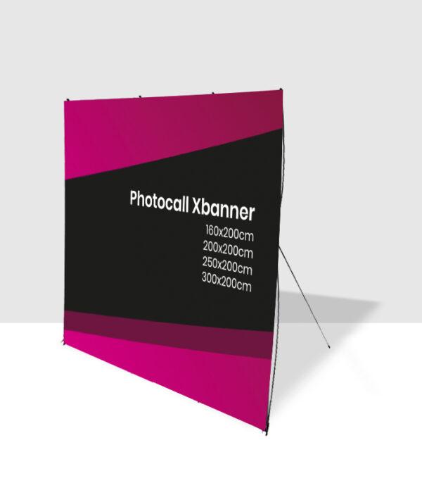 Photocall con soportes Xbanner personalizable con tu diseño