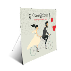 diseño de photocall para boda modelo nº4