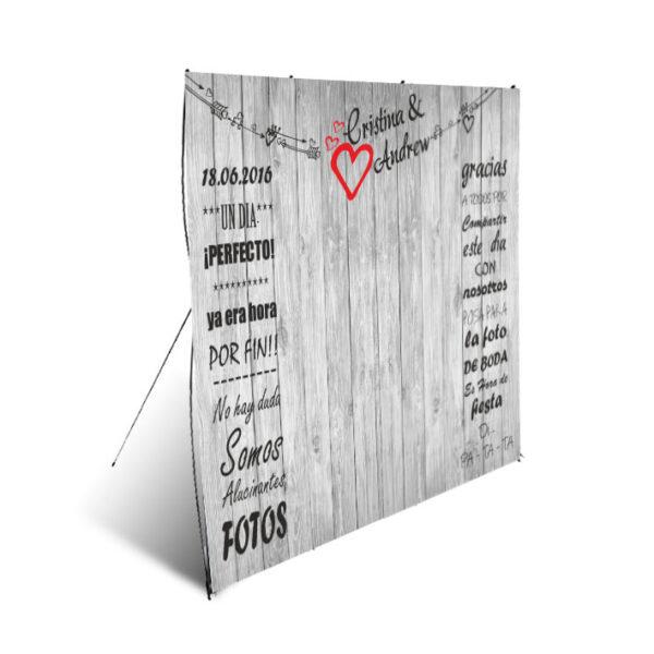 diseño de photocall para boda modelo nº7