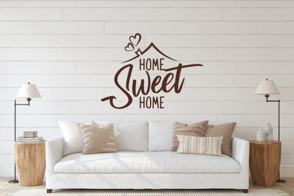 Vinilo decorativo con la frase home sweet home