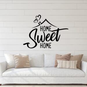 Vinilo decorativo con la frase home sweet home