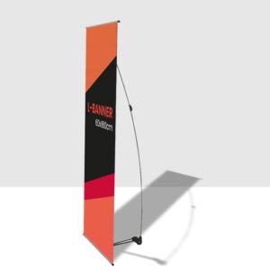 Soporte publicitario L-Banner de 60x160cm