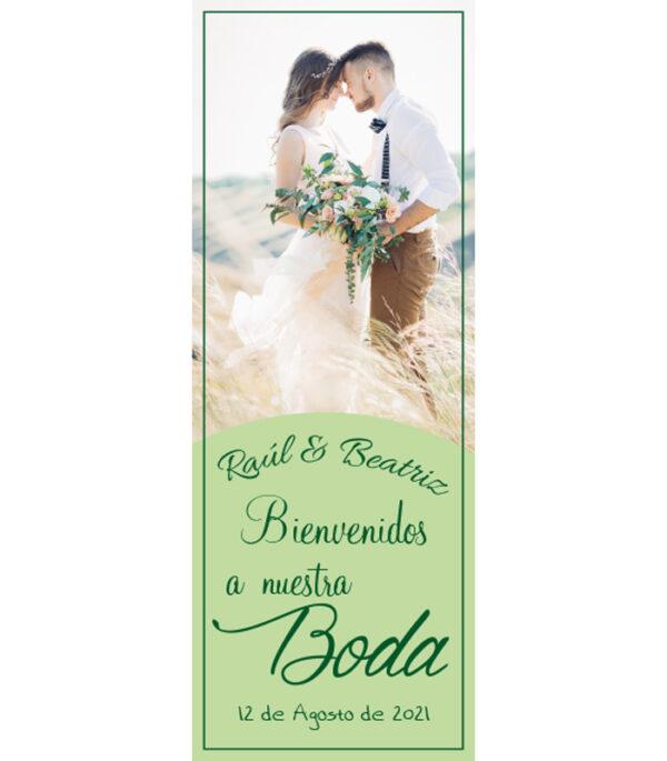 cartel de bienvenida para bodas